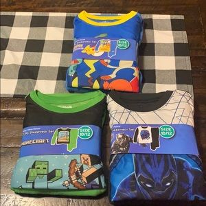 Other - Brand New! Never worn! Set of 3 boys pjs